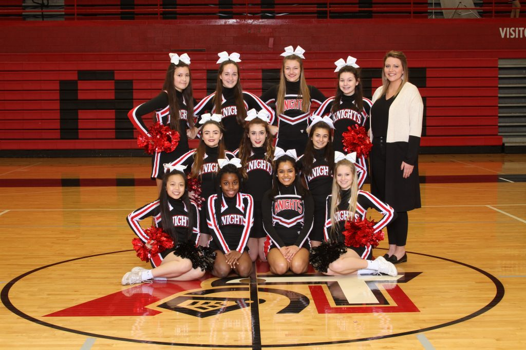 2017-18 Assumption Basketball Cheerleading